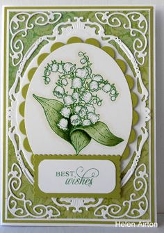 Lily of the valley from Flourishes stamps