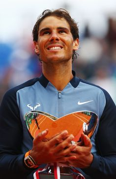 """""""It's been tough in the last times, but we've worked so hard for moments like this. Thanks for your support always"""" Rafael Nadal thanks his team after winning his 9th Monte Carlo title (via loveequalsnothing)"""