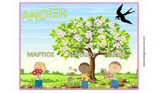 Ρουτίνες Νηπιαγωγείου: Πίνακες αναφοράς για τις μέρες, τις εποχές και τους μήνες. Kindergarten, Activities, Education, Blog, Kids, Young Children, Boys, Kindergartens, Blogging