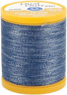 Dual Duty Denim Thread For Jeans 125 Yds: Denim Blue $0.43