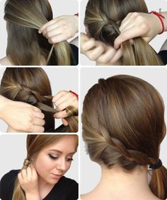 braided side ponytail!