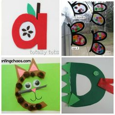 These letter of the week crafts give young kids a fun way to learn what sounds to associate with what letter. All the letters in one place! Letter O Crafts, Abc Crafts, Alphabet Crafts, Crafts For Kids, Alphabet Letters, Alphabet Board, Spanish Alphabet, Letter Tracing, Daycare Crafts