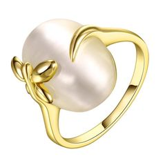 Gold Plated Closing Center Ring Size, Women's