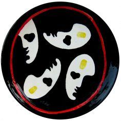 """andrea mattiello """"insieme""""    piatto in ceramica ritoccato a mano cm 15,5 Tir. 1/13 a 13/13; 2008"""