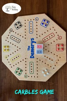 Looking for a new family game for game night? Try Carbles! This great, kid-friendly game also goes by Wahoo or Aggravation.This double-sided (4 and 6 players), handcrafted Carbles Game is made from 24 x 24 Maple plywood, and is precision shaped in either an octagon or circle.#craft #art #diy #geek #wallart #wooden #workshop #decor #woodengift #woodworking #handmade #Carblesgame