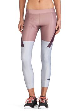 adidas by Stella McCartney Run TF Tight Legging in Tanned Sand & Universe from REVOLVEclothing