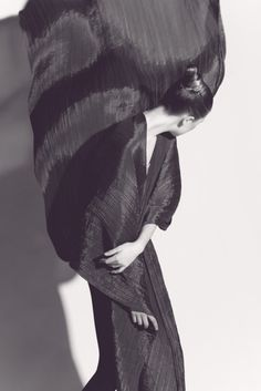 Issey Miyake, photographed by Irving Penn.