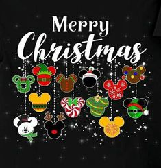 Merry Christmas Disney Style - Mickey icon in various Christmas themes Mickey Christmas, Noel Christmas, All Things Christmas, Christmas Ornaments, Disney Christmas Crafts, Merry Christmas Pictures, Merry Christmas Quotes, Xmas, Festivals