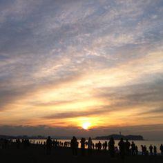 Tsujido Beach 1st sunrise 2012