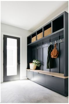 Built In Lockers, Built In Bench, Mudroom Laundry Room, Bench Mudroom, Mudroom Storage Ideas, Boot Room Storage, Mudroom Cabinets, Entryway Bench Storage, Upper Cabinets