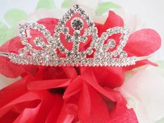 Bridal Rhinestone Crystal Prom Crown Hair Tiara Silver Sweet Sixteen