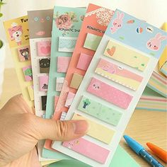 Kawaii Cute Fresh Cartoon Self-Adhesive Memo Pads Sticky Notes Post It Bookmark School Office Supply Student Stationery
