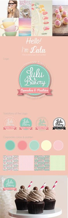LULU BAKERY from beautiful cupcakes to sweet tables, this small business prides itself on handmade and personalized sweet treats.My goal was to create an identity that reflected their sweet personality and love for bakery. The Logo sumarizes clearly the …