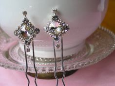 Swarovski Crystal Hair Pins Wedding Hair by NinaReneeDesigns, $60.00