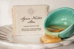 Agave Nectar Aloe Organic Shampoo Bar with Argan by unearthmalee