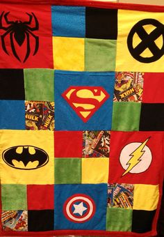 Superhero Baby Blanket on Etsy, $49.99