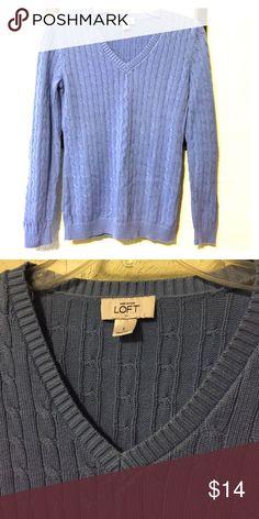 Ann Taylor Sweater Pale blue crew cut sweater! Ann Taylor Sweaters V-Necks