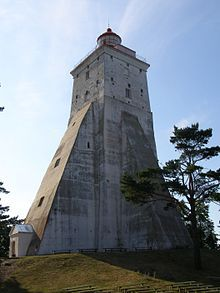 Kõpu Lighthouse in Estonia, the third oldest operating lighthouse in the world.