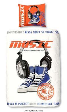 Dekbedovertrek Headphone Music 140x200/220 incl sloop 60x70