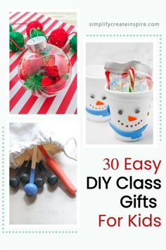 Easy DIY class gift ideas for students. Create your own end of year gifts for classmates, with simple gift ideas that kids can help with. These fun class gift ideas are sure to be a hit with the kids! These handmade gifts for kids to give school friends are far more fun than a candy cane! These simple DIY activities are also perfect for Christmas crafts for school kids to take home at the end of the year Class Christmas Gifts, Christmas Messages, Christmas Makes, Handmade Christmas, Christmas Crafts, Easy Diy Gifts, Simple Gifts, Simple Diy, Homemade Gifts