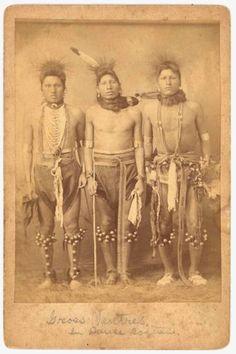 Group of Gros Ventres Indian Dancers | eBay