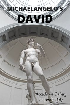 Michaelangelo's David at Accademia Gallery - Florence, Italy