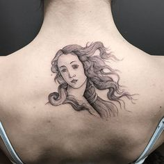 """Botticelli teaching: Birth of Venus"" #NeatTattoosIWouldHave"