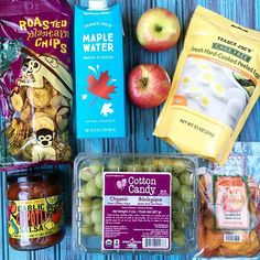 Pin for Later: Summery Snacks You Need to Pick Up at Trader Joe's Roasted Plantain Chips, Cotton Candy Grapes, Just Mango Slices . and more Basically all of the best snacks in one place. Summer Snacks, Quick Snacks, Cotton Candy Grapes, Organic Snacks, Trader Joe's, Yummy Treats, Hard Boiled, Boiled Eggs