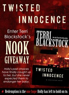 "Terri Blackstock is celebrating the release of the third and final book in the Moonlighters Series, ""Twisted Innocence,"" with a Nook giveaway and blog tour. Click for details!"
