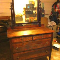 Refinished antique dresser...
