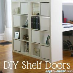 Make shelf doors for Ikea Expedit shelves very easily with prefab canvasses from the craft store