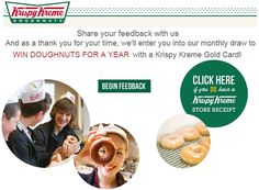 Don't miss out the opportunity to enjoy Krispy Kreme doughnuts for a year or £1,000 cash daily. And this happens only after sharing your feedback with Krispy Kreme. Good Luck to all!.  #Survey #Sweepstakes