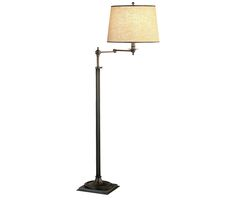 """""""Dream living room"""" Winston Floor Lamp - Adjustable height floor lamp features a swing arm, dark natural brass base, and a driftwood linen shade with brown contrast trim. Boston Interiors, Adjustable Floor Lamp, Color Shades, Driftwood, Coffee Shop, Living Rooms, Small Spaces, Contrast, Arm"""