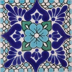 I think its neat that russian folk art tiles and mexican folk art tiles look a lot alike. Would love to incorporate this Terra Nova, Tuile, Spanish Tile, Turkish Tiles, Blue Pottery, Tile Art, Tile Patterns, Islamic Art, Stencil