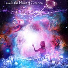 love is the heart of creation ❤️ #love #beingsoflight #createlove