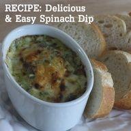 Delicious spinach dip -- great for entertaining! #entertaining #recipe #dip