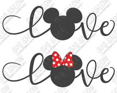 Love Boy and Girl Mouse SVG Cut File Set