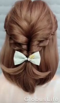 Easy Hairstyles For Long Hair, Elegant Hairstyles, Girl Hairstyles, Hairstyle Ideas, School Hairstyles, Simple Hairdos, Wedding Hairstyles, Indian Hairstyles, Scrunchy Hairstyles