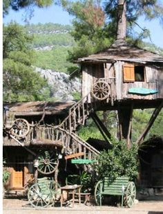 The Kadir Yörük Treehouse hotel is really inexpensive . . . though a stay there is a bit Lord Of The Flies tinged.