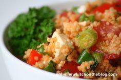 New Kitch On The Blog: Trotzt dem Regen: Roter Cous Cous-Salat