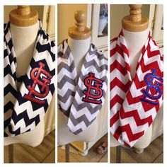 1-2 WEEK WAIT! Sparkly STL Cardinal Navy Chevron Infinity Scarf, St Louis Cardinals, Cardinals Scarf, Personalized Scarf, Cardinals Baseball on Etsy, $20.00