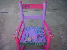 hand painted rocking chair!! ::this can be done for boy or girl!