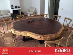 #Mesa elaborada a partir de un tronco natural de Parota.