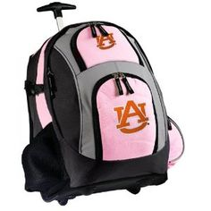 Auburn Rolling Backpack Deluxe Pink Auburn Tigers - Backpacks Bags with Wheels or School Trolley Carry-On Suitcase Bags - Unique Wheeled Gifts for Girls Ladies Women (Apparel)  http://www.mypricecompare.com/bestproducts.php?p=B005HEHWS2  B005HEHWS2