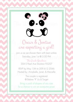 Baby Panda Baby Shower Party Printable Party by TheLovelyMemories, $15.00