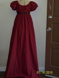 Jane Austen Regency Style Costume Dress Size 6/8 Women