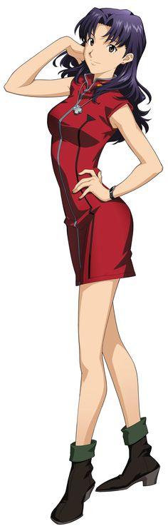 Evangelion, Misato, official art