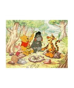 I adore Winnie the Pooh :: Campfire Pals Limited-Edition Sericel Print