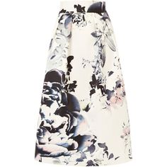 MIRIAM PRINTED SKIRT ($185) ❤ liked on Polyvore featuring skirts