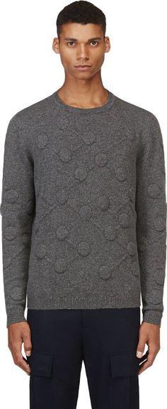 Fancy - Grey Cashmere 3D Molecule Sweater by Christopher Kane